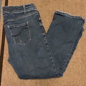 Lane Bryant Genius Fit Bootcut Jeans. Sz 16 Short